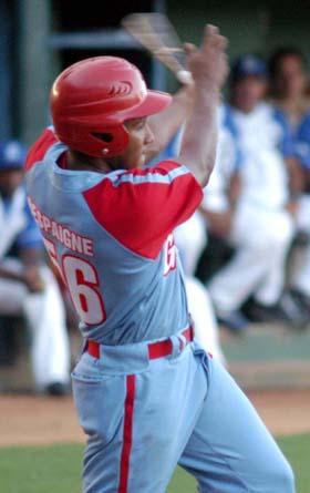 Cuban League home run leader Alfredo Despaigne starts in left field batting fifth.