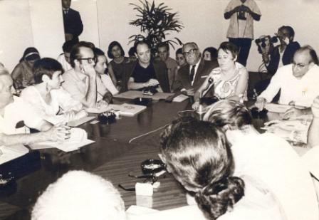 Casa de las Americas 1970, Margaret left with Rodolfo Walsh, Silvia Gil, Alfredo Guevara, Manuel Galich, Haydee Santamaria and Raul Roa.