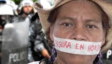 Censorship in Honduras.  Photo: Giorgio Trucchi - Rel-UITA