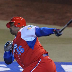 Yosvani Peraza's pinch hit homer saved Cuba against Spain.