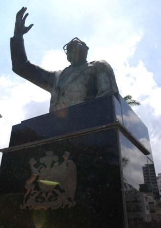 Statue of Salvador Allende -  It was true that in the Cuban press one could read about countries, peoples and struggles unknown to a U.S. public