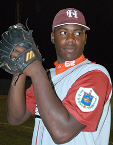 Yadier Pedroso took the loss for Cuba against Puerto Rico.