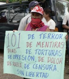 101 Days of Terror, photo: Giorgio Trucchi, rel-UITA