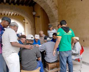 Dominoes game in Old Havana. Photo: Caridad