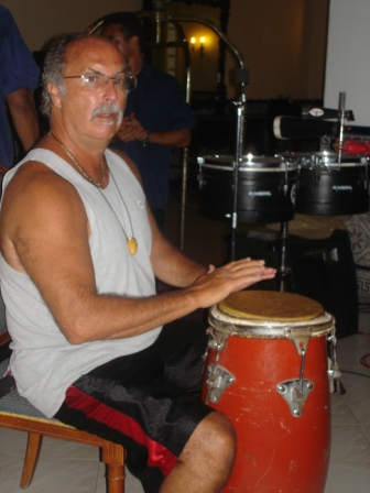 I always found a warm response from Cuban congueros in the numerous Son groups in restaurants and bars.  They would let me play their instruments and sit in with their group for a number
