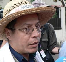 Dr. Francisco Cruz Reyes - Photo Giorgio Trucchi - Rel-UITA