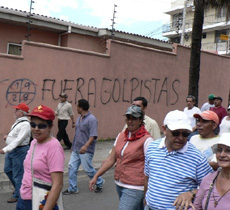 Oct. 1 protests in Honduras.  Photo: Giorgio Trucchi - Rel-UITA