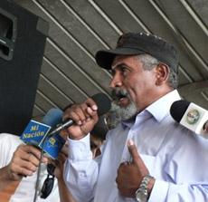 Resistance leader Juan Barahona.  Photo: Girogio Trucchi, rel-UITA