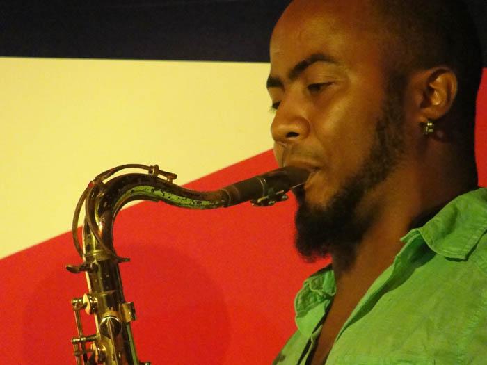 Cuban sax player Manuel Miyares on Cuban Culture Day.  Photo: Elio Delgado