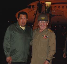Hugo Chavez and Raul Castro in Havana. Photo: Granma newspaper