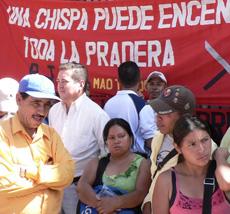 Honduras, Nov. 12, 2009.  Photo: Giorgio Trucchi, rel-UITA