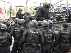 Stepped up repression can be expected in the coming days.  Photo: Giorgio Trucchi, rel-UITA