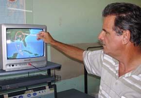 Jose Rubiera, Cuba's top weather person.