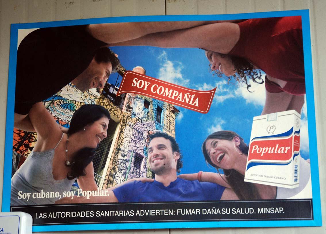 Cuban Cigarrete Ad.  Photo: Irina Echarry