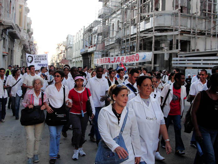 March remembering the eight murdered medical students.