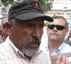 Resistance Leader Juan Barahona.  Photo: Giorgio Trucchi, rel-UITA