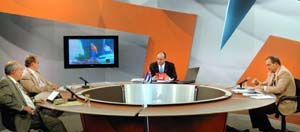 Cuba's Round Table evening TV Program
