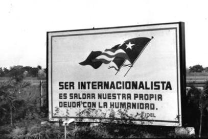 To be Internationalist is to settle our own debt with humanity.
