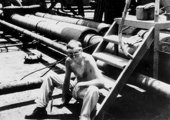 """Ron working on """"Seaweed"""", Cuba, 1991"""