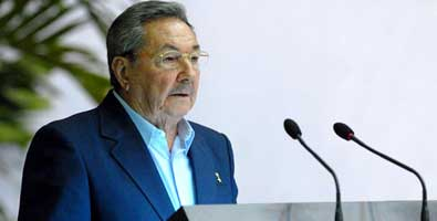 Raul Castro in a recent speech in which he criticized the US media offensive against Cuba.