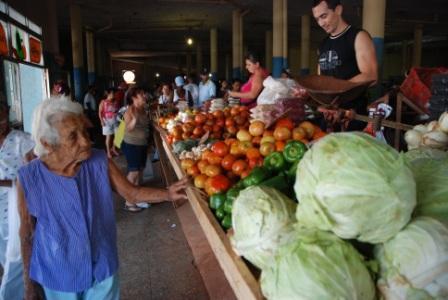 Cuban fruit and vegetable market.