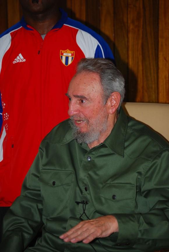 Fidel Castro in his military garb . File photo: Estudios Revolución.