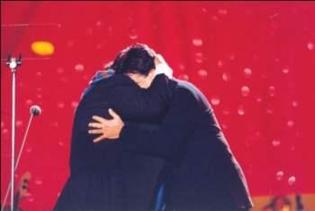 Augusto with Pavarotti