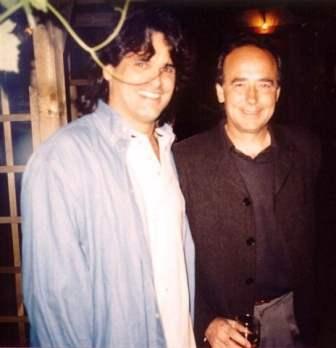 Augusto with Juan Manuel Serrat