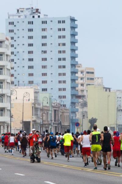 From the recent Marabana Marathon in the Cuban capital. Photo: Juan Suarez