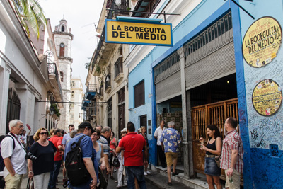 Old Havana's La Bodeguita del Medio.  Photo: Juan Suarez