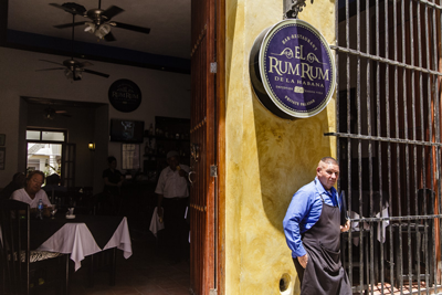 A private Havana bar-restaurant.  Photo: Juan Suarez