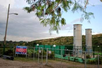 Biogas plant at the 100th Street Garbage Dump.