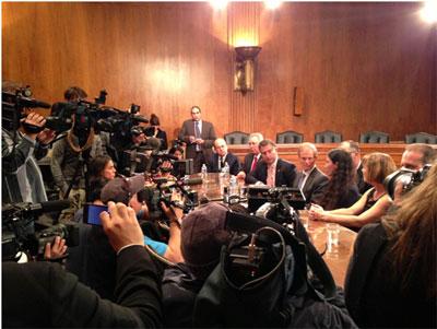 Yoani Sanchez meets with US legislators. Photo: from the office of Sen. Bill Nelson