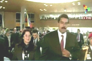 Nicolas Maduro was proclaimed president-elect on Monday afternoon.