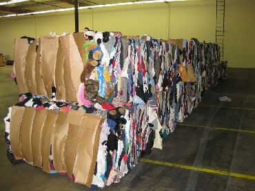 Bales of donated clothes. Photo: balesofclothes.com