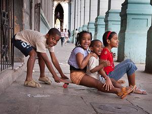 Cuban children.  Foto: cafefuerte.com
