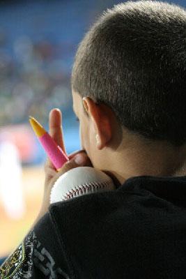 Young Cuban baseball fan.