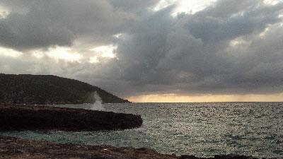 Cuban coastline.