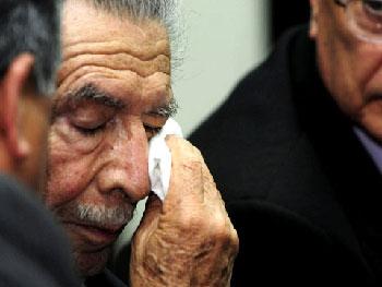 Efrain Rios Montt at his sentencing.