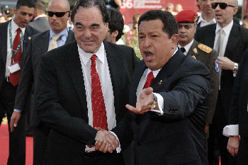 Oliver Stone and Hugo Chavez back in 2009.  Photo: commons.wikipedia.org