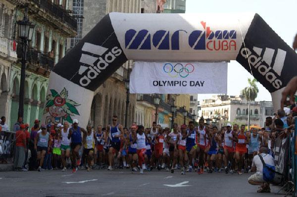 Olympic Day run in Havana.