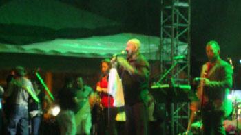 Oscar de Leon performing in the Amazon region of Ecuador.