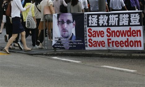 Rally in Hong Kong supporting Eduard Snowden. Photo: article.wn.com