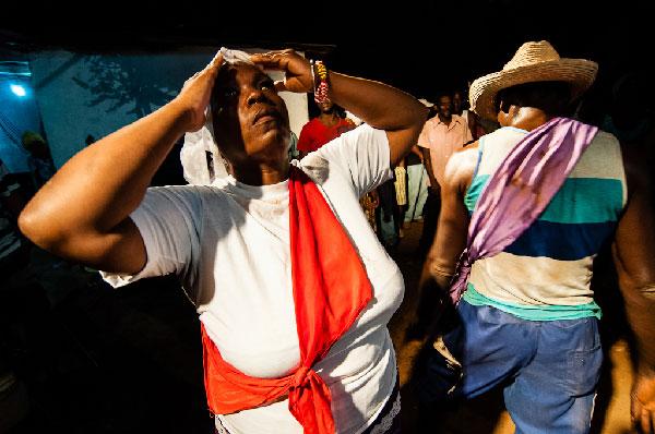 Dancing in celebration of San Lazaro on December 17, 2012 in Perico, Matanzas.