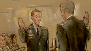 """Bradley Manning was found not guilty of """"aiding the enemy""""."""