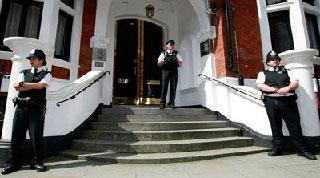 Ecuadorian embassy in London.  Photo: minci.gob.ve