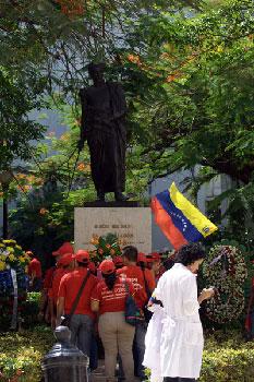 Estatua de Bolivar en La Habana
