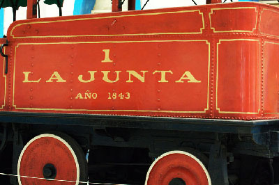 La Junta, the first locomotive used in Cuba.