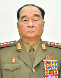 The head of the Chiefs of Staff of the North Korean Army,  Kim Kyok Sik.