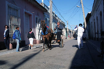 The tourist bus was en route from Varadero to this city of Trinidad.